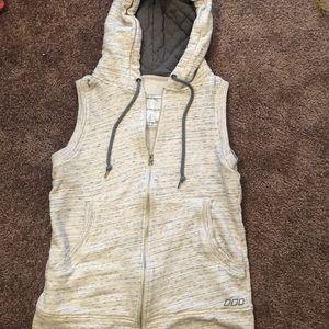 Lorna Jane Women's gray hooded vest Sz S